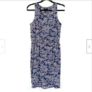 Gap Tulip Hem Faux Wrap Dress Sm Sleeveless Floral